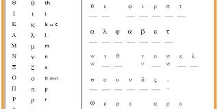 Greek And English Alphabet Chart Six Differentiated Activties To Decode A Secret Message