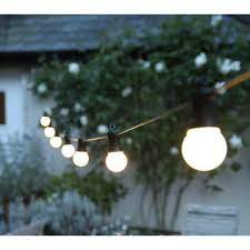 Dây đèn led ngoài trời bóng tròn trắng sữa (ánh sáng vàng sáng+phích  cắm+hẹn giờ)