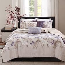 madison park piper taupe 6 piece quilted coverlet set