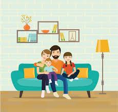 family room clipart. print vector art illustration family room clipart n