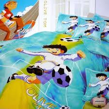soccer bed sheets anime football captain kids bedding set duvet cover bed linens twin full size