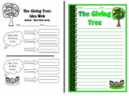 The Giving Tree Creative Writing Worksheets and Leaf Templates Set ...