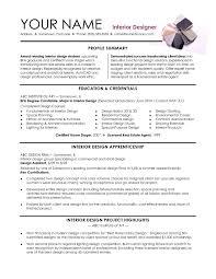 Resume Objective Examples Interior Designer Augustais
