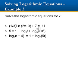15 solving logarithmic equations