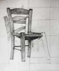 Old wooden Chair Still life Pencil Sketch Study Original
