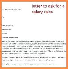 Letter To Ask For Raise Salary Increase Letter From Employer To Template Sample Rece