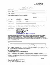 Bid Form For Construction 31 Construction Proposal Template Construction Bid Forms Proposal