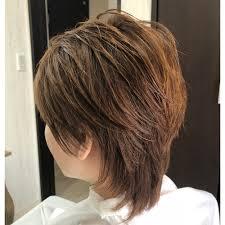 ツーセクションウルフレイヤーカット ネオウルフ Hairspace Shining