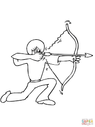 Small Picture Bow Shooting from the Knee coloring page Free Printable Coloring