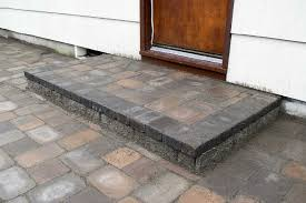 finished paver patio step finished paver patio step