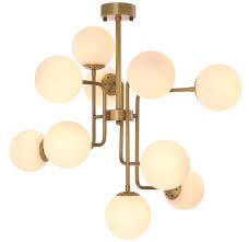 Casa Padrino Luxus Kronleuchter Antik Messing Weiß 84 X 84 X H 73 Cm Moderner Kronleuchter Mit Runden Glas Lampenschirmen