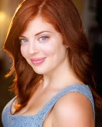 Redhead bugeyed commercial actress