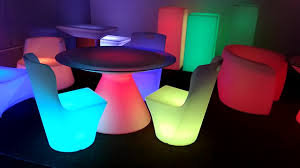 Glow Furniture New Design Led Bar Table Led Light Up Chair Outdoor Glow Furniture