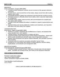 Cover Letter For Waitress Waitress Resume Example Waiters Resume