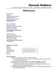 Resume Examples References Resume Sample With Reference List References On  Resume