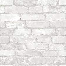 NuWallpaper Grey And White Brick Vinyl ...