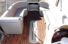 astounding pontoon flooring vinyl cruise triple boat teak floor