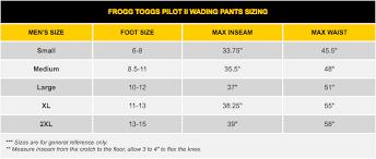 Frogg Togg Rain Gear Size Chart Frogg Toggs Pilot 2 Guide Pants Breathable Stockingfoot Wading Pants