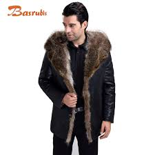 whole fur lined leather jacket mens winter men s fur coat genuine hooded leather jacket men sheepskin whole plus size direct from china