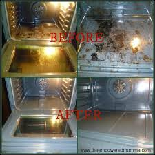 DIY natural oven cleaner- 2 cups Baking Soda, cup Vinegar, cup Lemon Juice-  mix ingredients SLOWLY into a paste, coat oven and leave overnight.