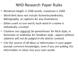 national history day historical paper guide ppt video online  nhd research paper rules
