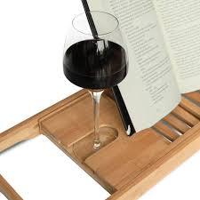 Bathtub Tray Expandable Deluxe Bamboo Bathtub Caddy With A Bar
