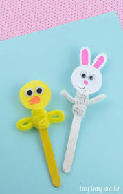 easter projects for toddlers pinterest. chick and bunny easter craft stick puppets for kids. these would be so cute coupled projects toddlers pinterest z