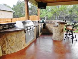 Austin Outdoor Kitchens Curved Outdoor Kitchen In Austin Archadeck Outdoor Living