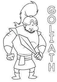 Small Picture David And Goliath Coloring Pages Coloring Page Coloring Home
