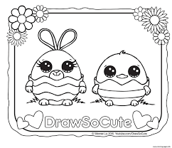 Easter Draw So Cute Coloring Pages Printable Cute Coloring Pages To