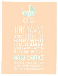 Tiny Yawns Digital Printing Baby Shower Invitations