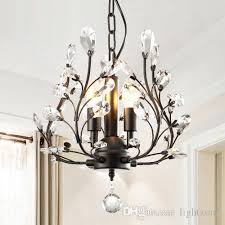 led k9 crystal chandeliers lighting european american elegant creative retro country led pendant chandelier living room study room bedroom ship chandelier