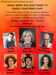 Doing a show a WEEK FROM TODAY! Wendy... - Stephen Tobolowsky | Facebook