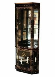 chinese corner cabinet glass display
