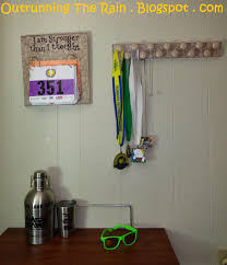 diy race bib and medal display cost about 17 00