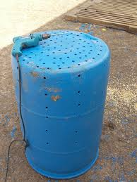 Step four- make dry well out of 50 gallon barrel using 1/2