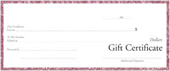 Gift Certificate Printable Free Generic Gift Certificate Template