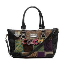 Coach Fashion Holiday Large Black Satchels ELM Outlet Clearance Sale