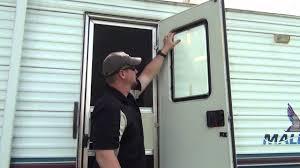 rv door glass installation