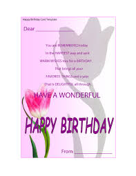 Happy Birthday Card Printable Template 40 Free Birthday Card Templates Template Lab