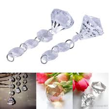 acrylic crystal diamond beads string drops pendant garland chandelier hanging curtain interior decor 8 25mm partyware personalized party favors