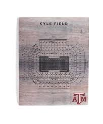 Kyle Field Seating Chart Kyle Field Stadium Seating Char Pallet Wall Decor