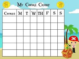 Pirate Themed Childrens Chore Chart And Cards Behavior Management