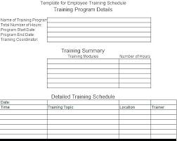 Training Programme Schedule Format Training Calendar Template