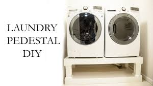 laundry washer dryer pedestal diy