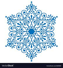 Christmas Snowflake Design Winter Embroidery Vector Image