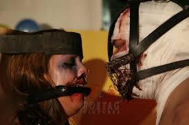 Horror film and bondage