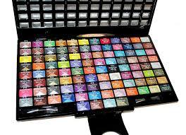 amazon elegant 100 piece glitter eyeshadow makeup kit in black palette eye glitter and shimmer beauty