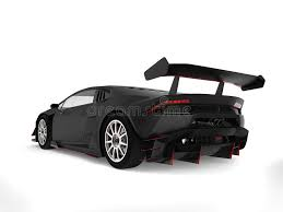 Download Matte Black Sports Car With Red Details - Back View Stock  Illustration Of R