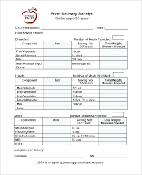 Shipping Receipt Template Delivery Receipt Templates Free Printable